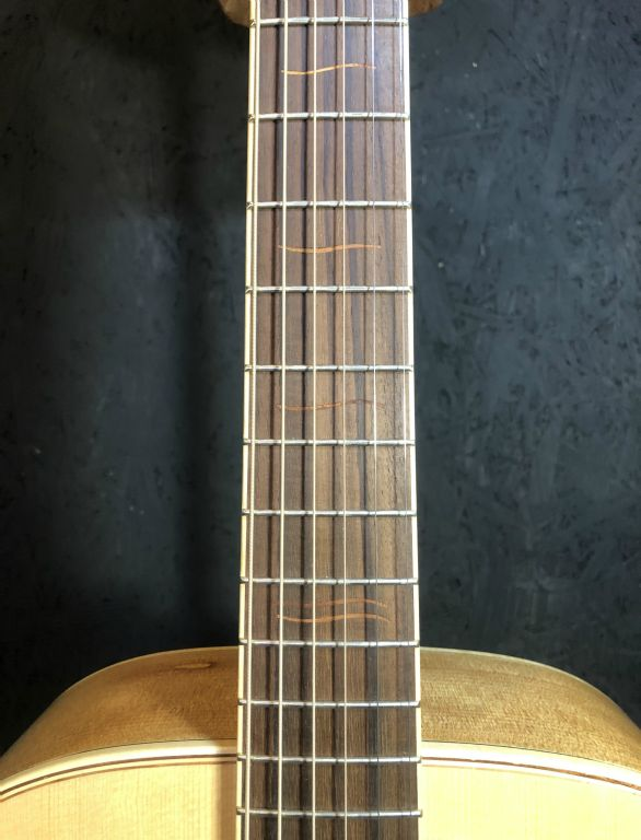 Indian Rosewood Fretboard with Almond Fret Marker Inlays